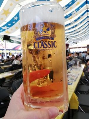 航空券でビールゲット!