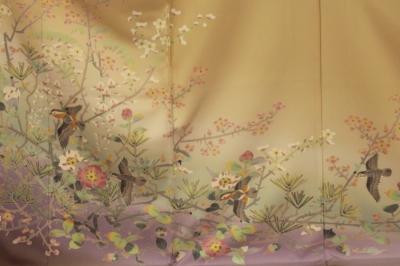 加賀友禅の色留袖