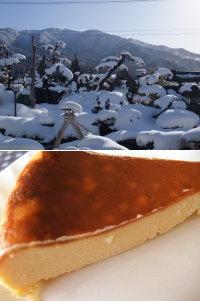 雪とチーズケーキ