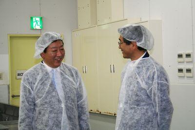 野田元総理が当社工場を視察