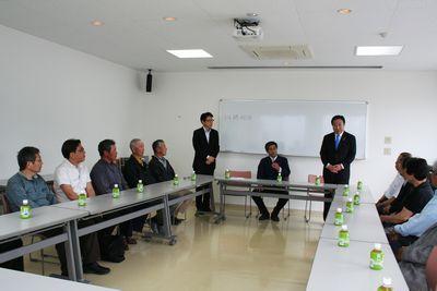 漁協の方々と野田元総理