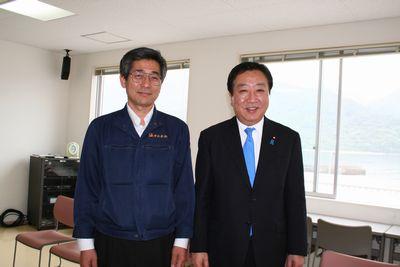 野田元総理と当社社長