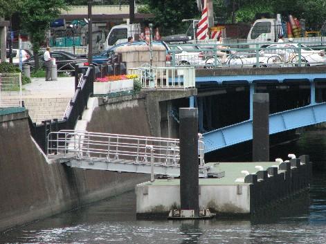 和泉橋際の荷揚げ場
