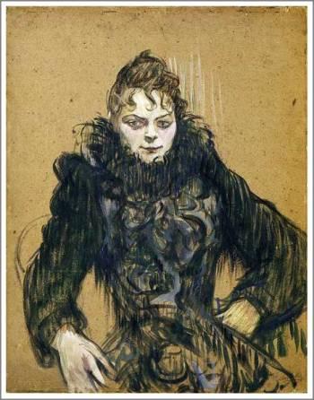 ロートレック「黒いボアの女」