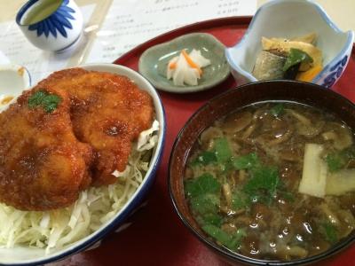 ソース鶏カツ丼セット