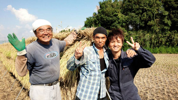 13年度最初の稲刈り