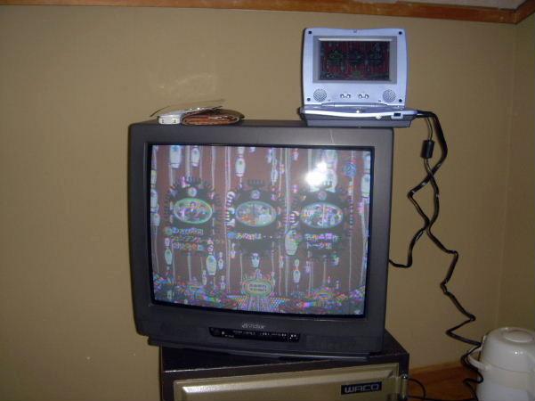 テレビにつないで皆でDVDを楽しみました!