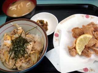 親子丼+唐揚げ