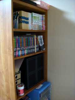 本棚小も壁と化す