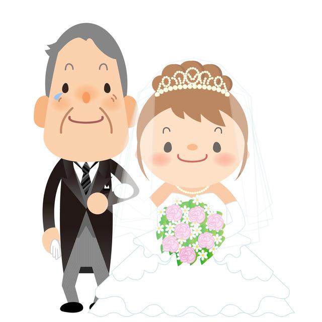 娘の結婚式で泣いた