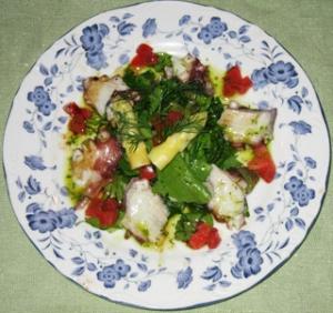 タコマリネのサラダ完成品