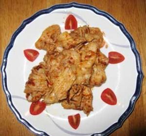 豚肉のニンニク和え ピリ辛ソース