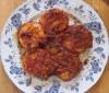 トマトソースと和えた帆立貝