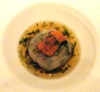 海水ウニとスズキのポーピエット