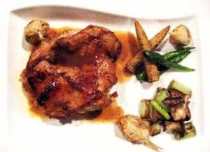 鶏腿肉のロースト シナモンソース