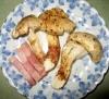 松茸とベーコン