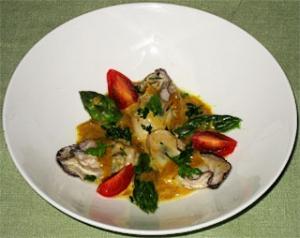 牡蠣のクリーム煮、カレー風
