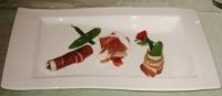 前菜:生ハムとパンチェッタの野菜巻き