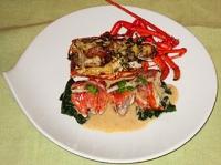 魚:伊勢海老のロースト、バニラ風味のソース・ブールブラン