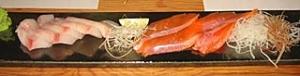 マナガツオ、琵琶鱒の造り
