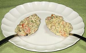 三種の魚介の冷製 香草マヨネーズ和え