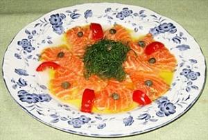 サーモンのマリネ 生姜風味