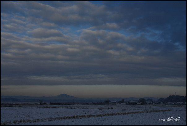 雪の田園風景2