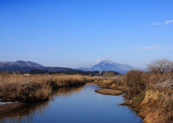 雪化粧の筑波山