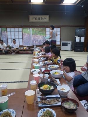 8月6日 夕食風景3