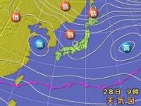 朝9時の天気図