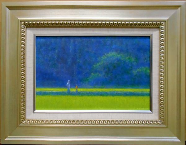 風景画 岡野浩二 『青田』 郷愁。それに尽きる。