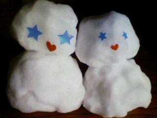 雪だるまのカップルさん