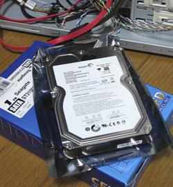 1TBの増設ハードディスク