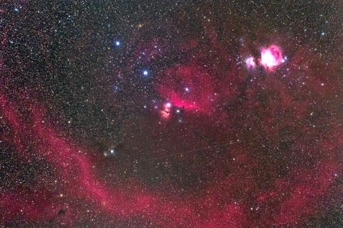 オリオン座の星雲