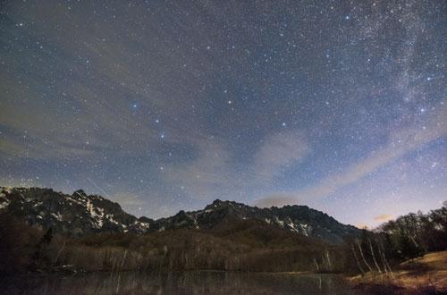 鏡池の星空