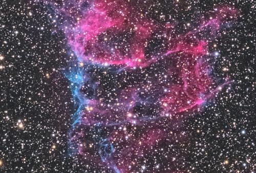 網状星雲部分