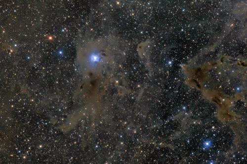 アイリス星雲と分子雲