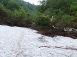 140618渓谷第2吊橋周辺の残雪