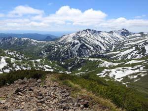 180615南暑寒岳山頂からの眺望