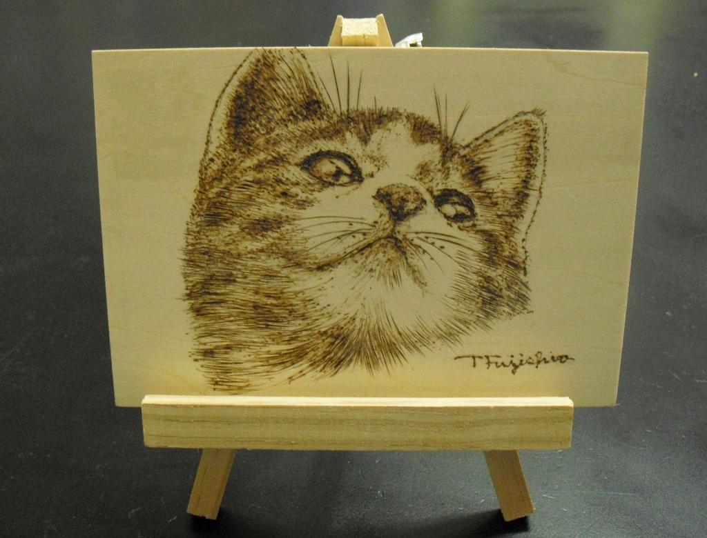 3焼き絵猫