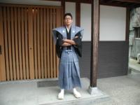 地元のイベントで着物を着せられました(^_^;)