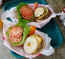 クアアイナのハンバーガー