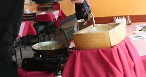 リゾットのチーズ