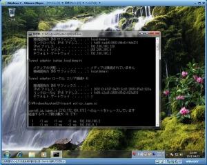 VMWare Player 上の IP アドレス