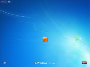 """""""Windows 7 のログオン画面"""""""