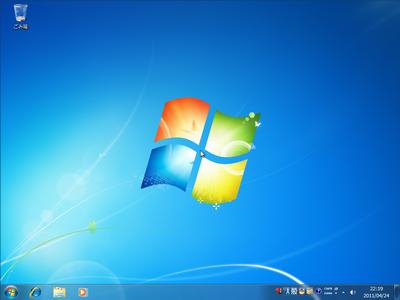 Windows 7 が起動しました。
