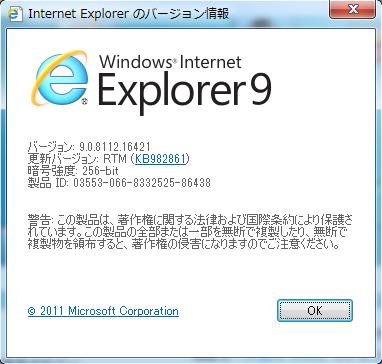 """Internet Explorer のバージョン情報"""