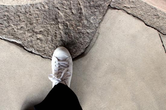運動靴で颯爽と・・・(*^^*)