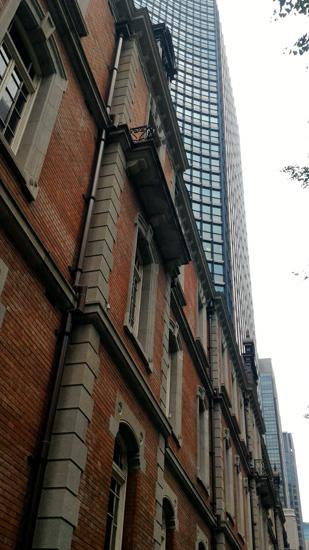 異なる建物が美しい