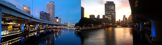 ネオンもビルも川も素敵